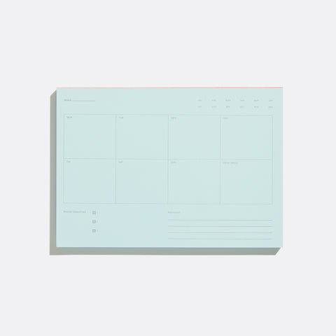 Blue Weekly Notepad