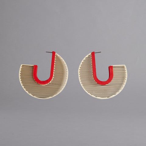 J Hoops Earrings by Topodom