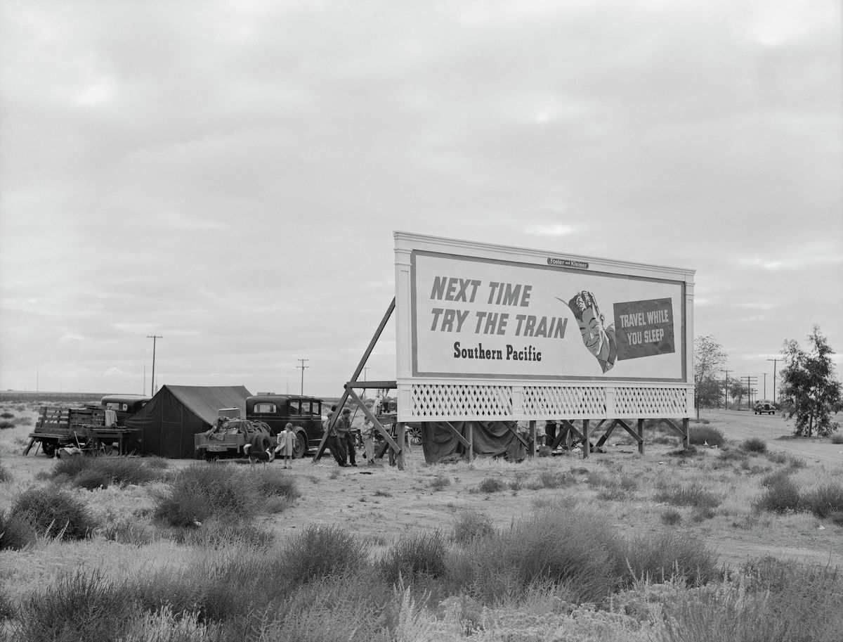 Untitled (On the Road) by Dorothea Lange: Fine Art Giclée Print