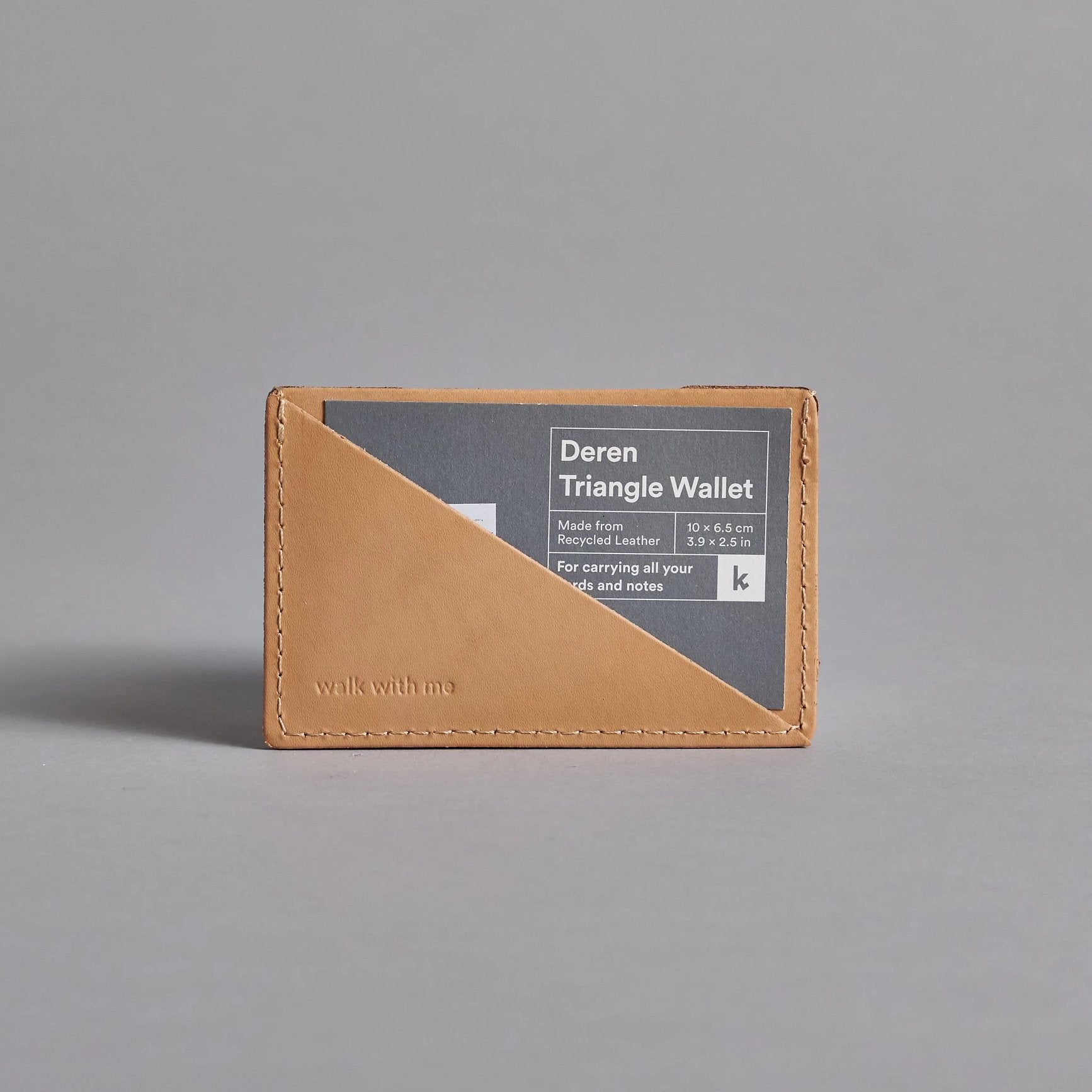 Camel Leather Triangle Wallet