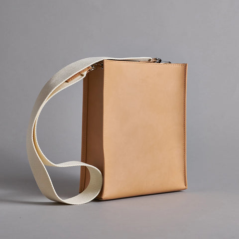 Camel Leather Book Bag