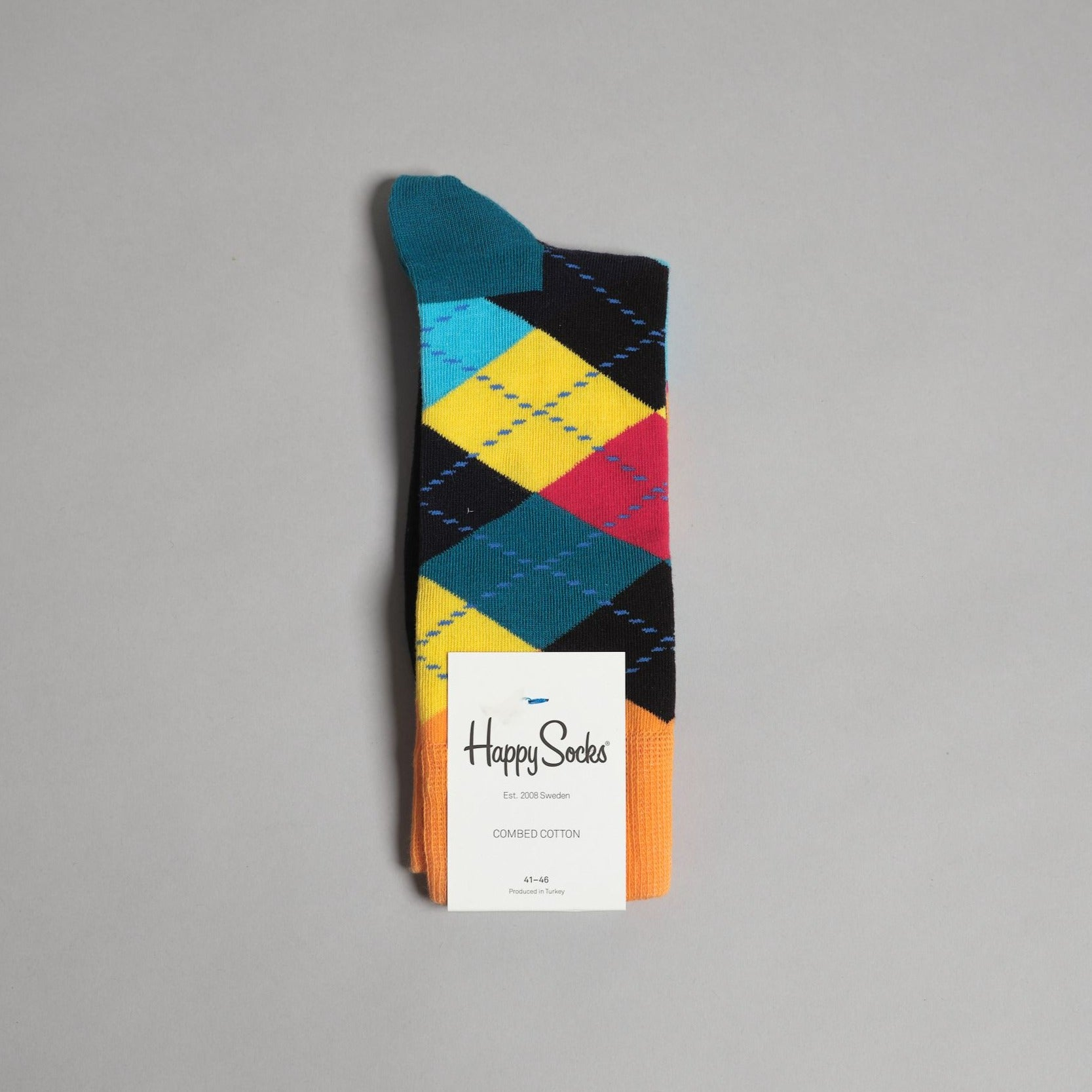 Blue and Orange Argyle Socks