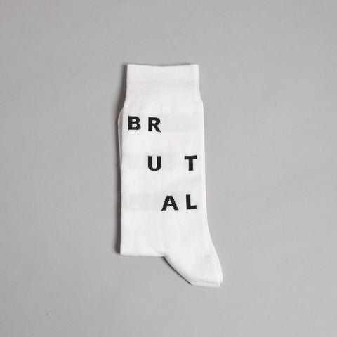 White Brutal Socks