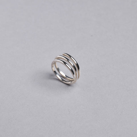 Silver Spiral Ring by Otis Jaxon