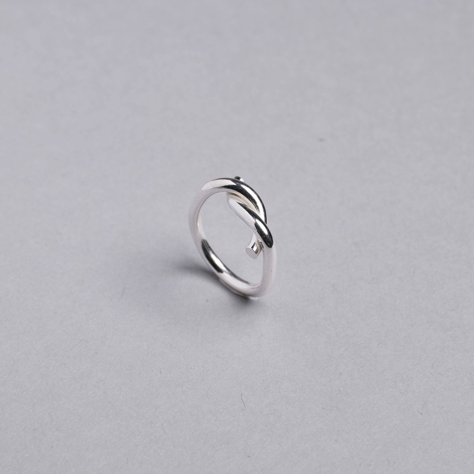 Silver Infinity Twist Ring by Otis Jaxon