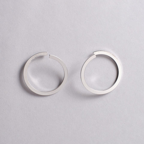 Silver Unfinished Circle Earrings