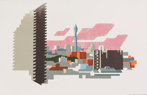 Telecom and Barbican print by Paul Catherall
