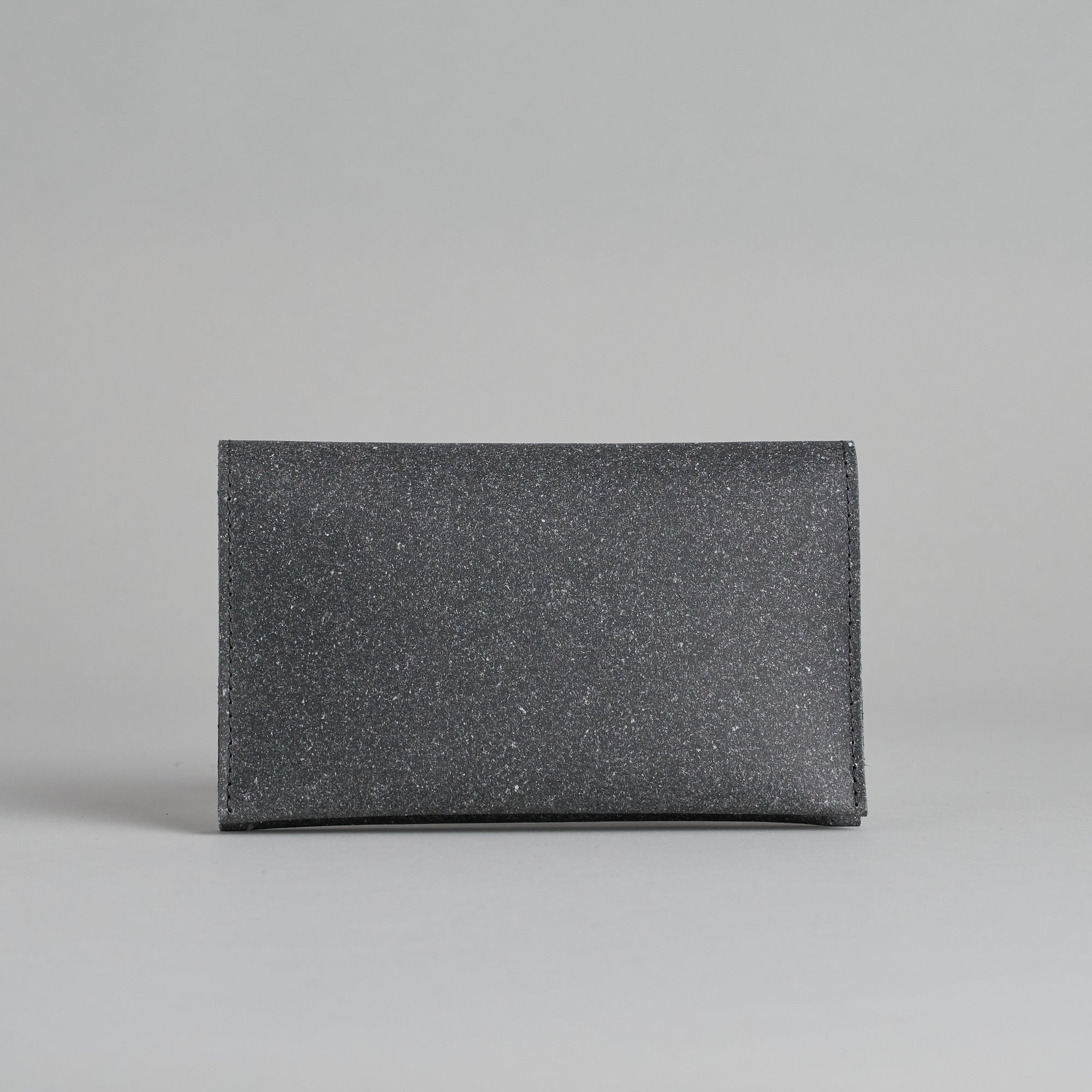 Grey Deren Leather Flat Purse