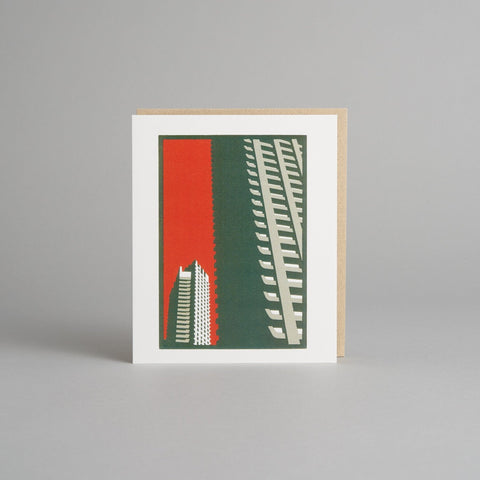 Barbican Orange Card by Paul Catherall