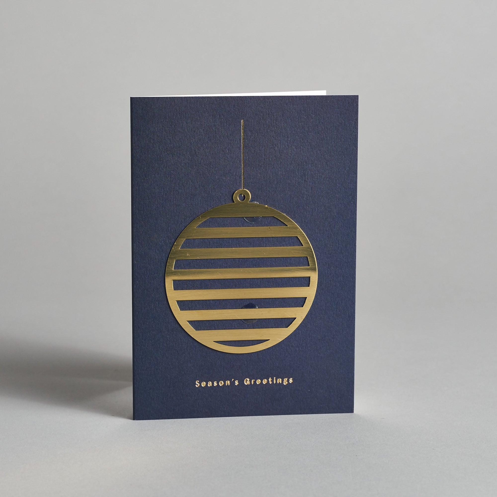 Brass Bauble Ornament Card
