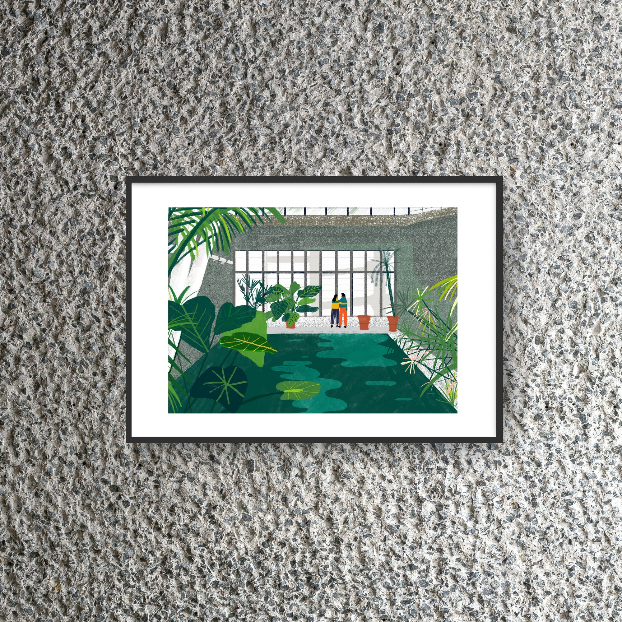 Barbican Conservatory Couple Print by Hannah Jacobs