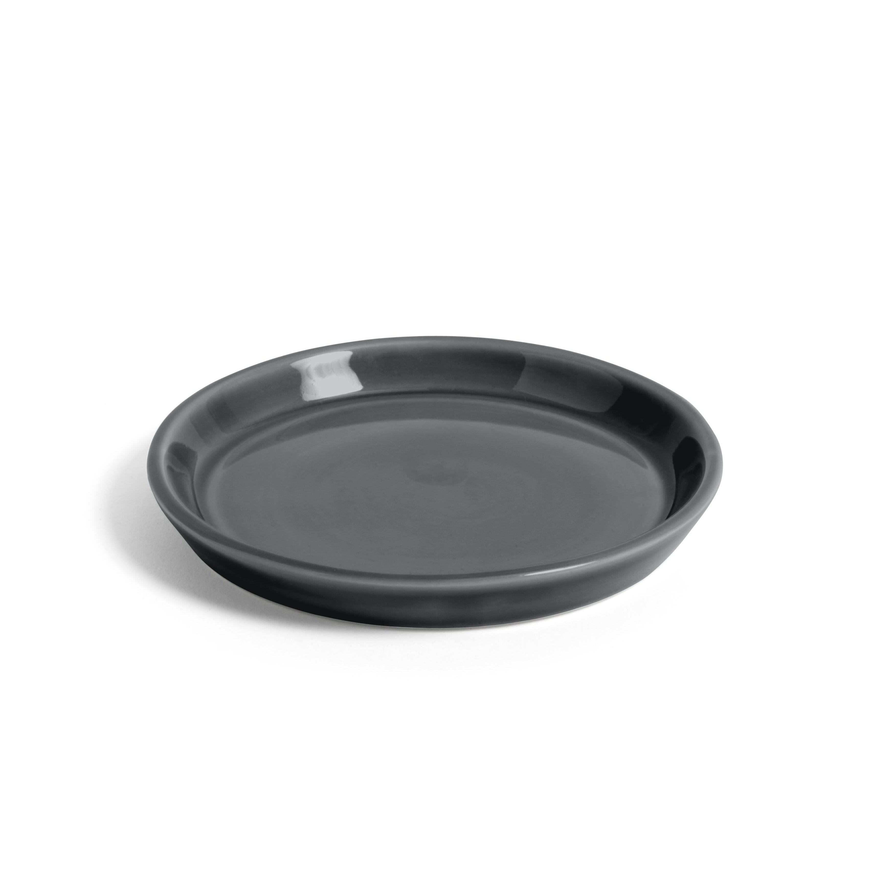 Medium Anthracite Botanical Saucer