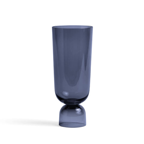 Bottoms Up Navy Vase