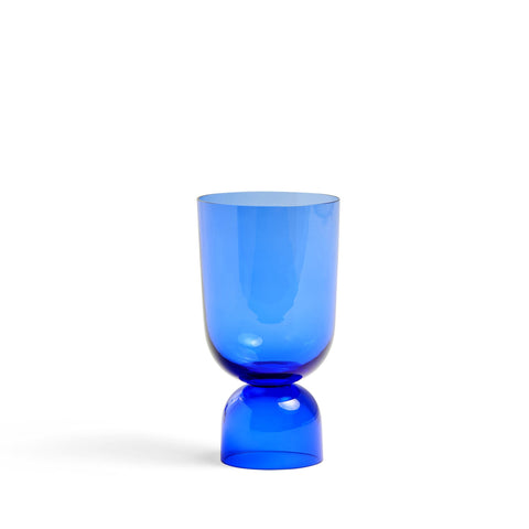 Bottoms Up Blue Vase