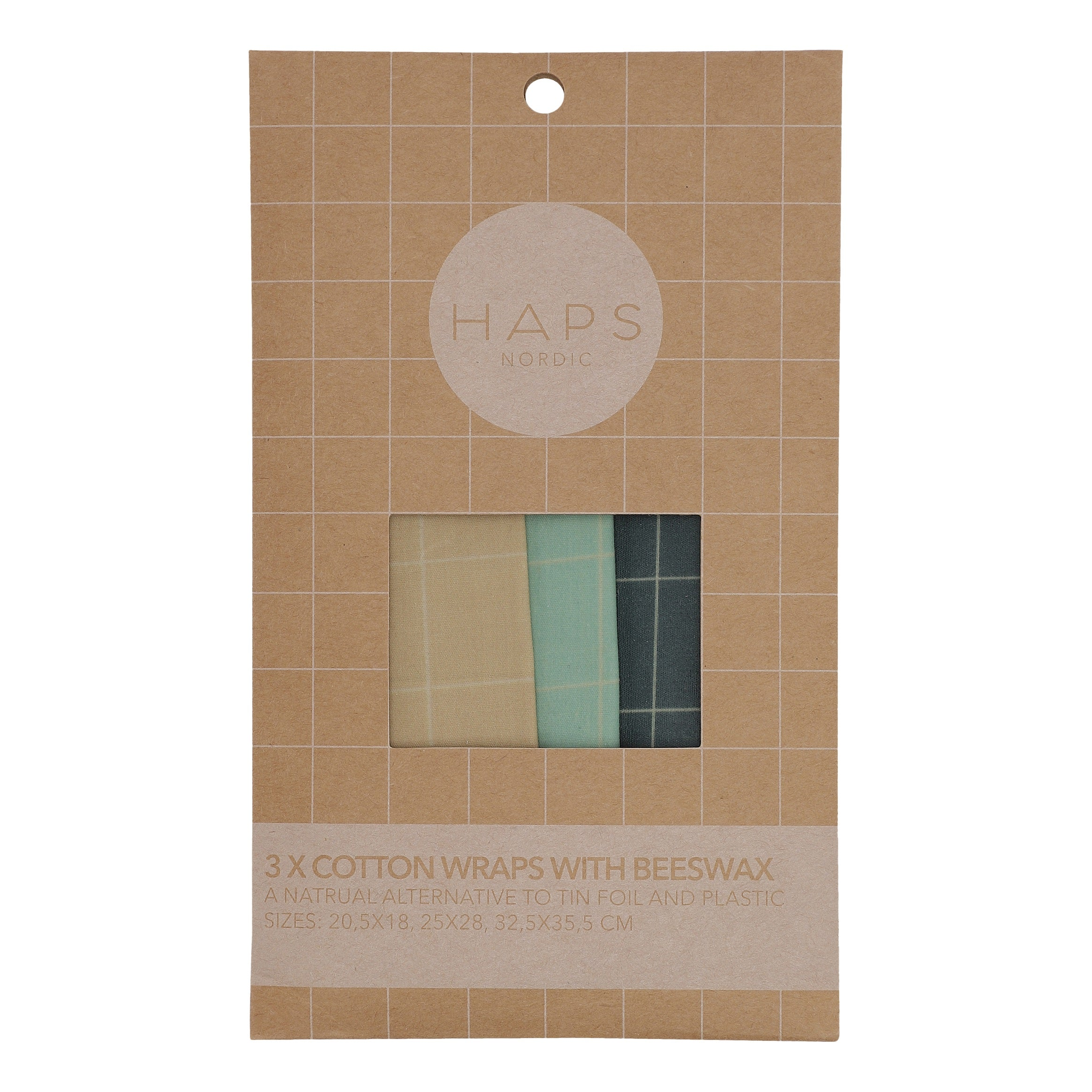 Blue Cotton Beeswax Wrap Set
