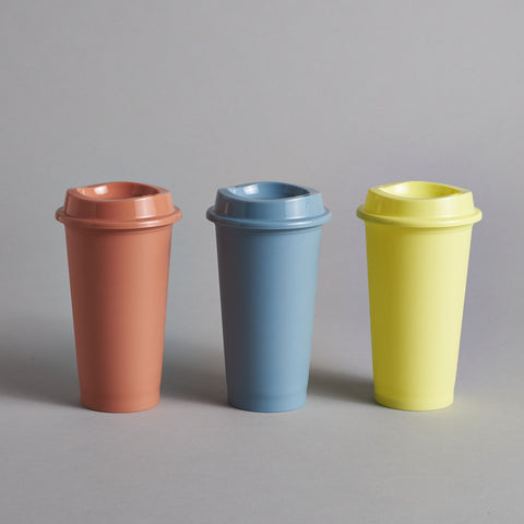 Paquet Reusable Coffee Cups - Yellow