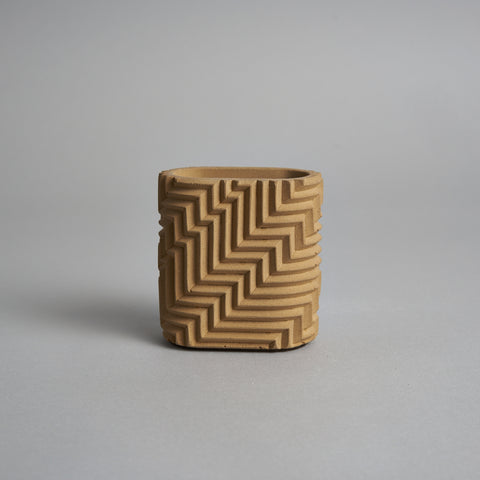 Herringbone Pencil Pot in Taupe