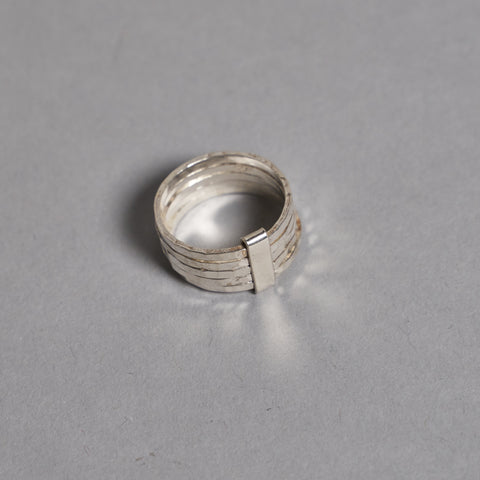 Hammered Silver Stacking Ring by Otis Jaxon