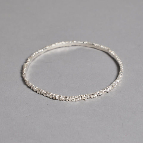 Silver Pyrite Bangle by Otis Jaxon