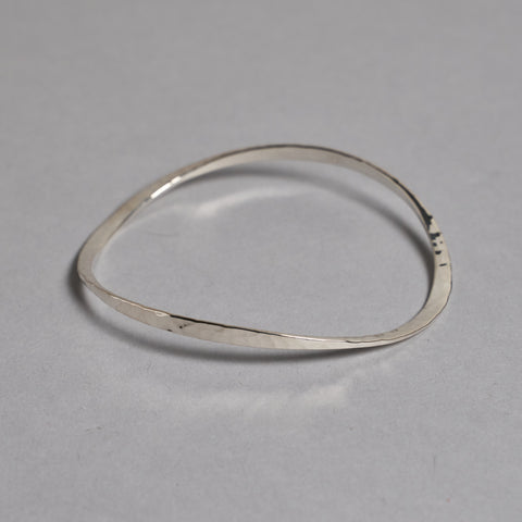 Silver Hammered Bangle by Otis Jaxon