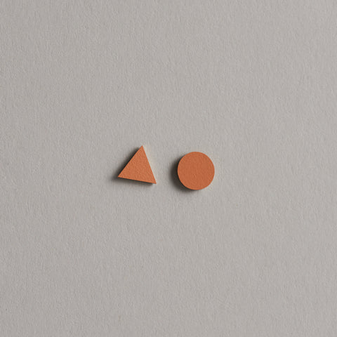 Tan Mix Match Studs by Tom Pigeon
