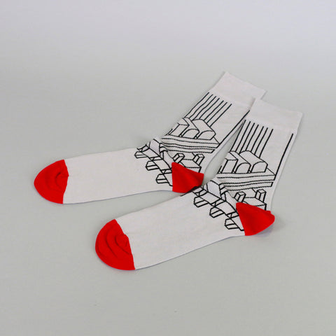 Barbican Architecture Collection Socks: Grey