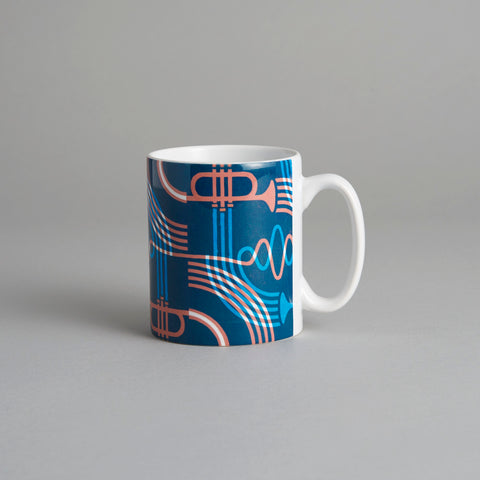 Trumpet Mug by James Brown