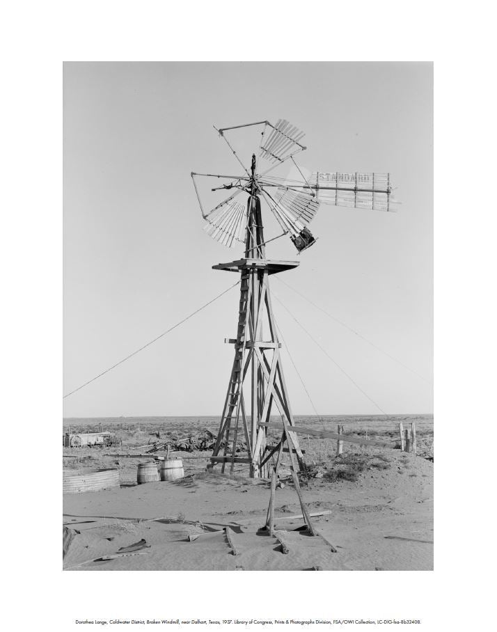 Broken Windmill by Dorothea Lange: Digital Print