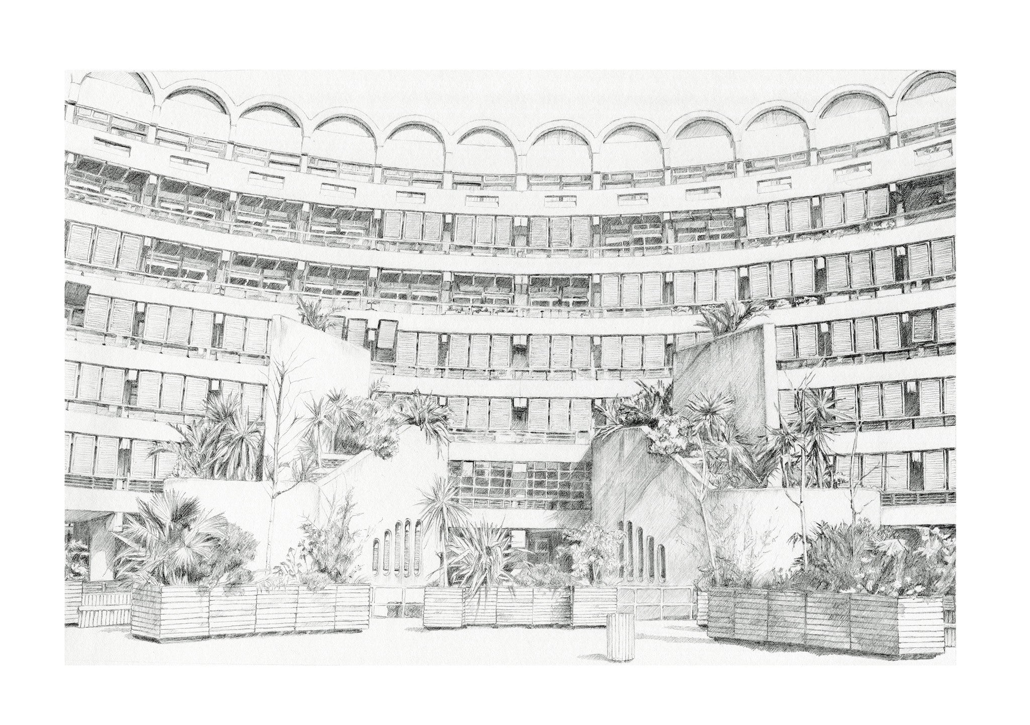 Sculpture Court Print by Kate Kendall