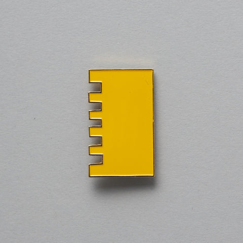 Yellow Enamel Pin by Tom Pigeon