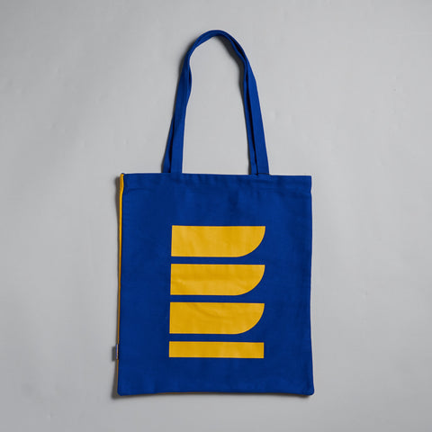 Blue Shapes Tote Bag by Reflect Studio