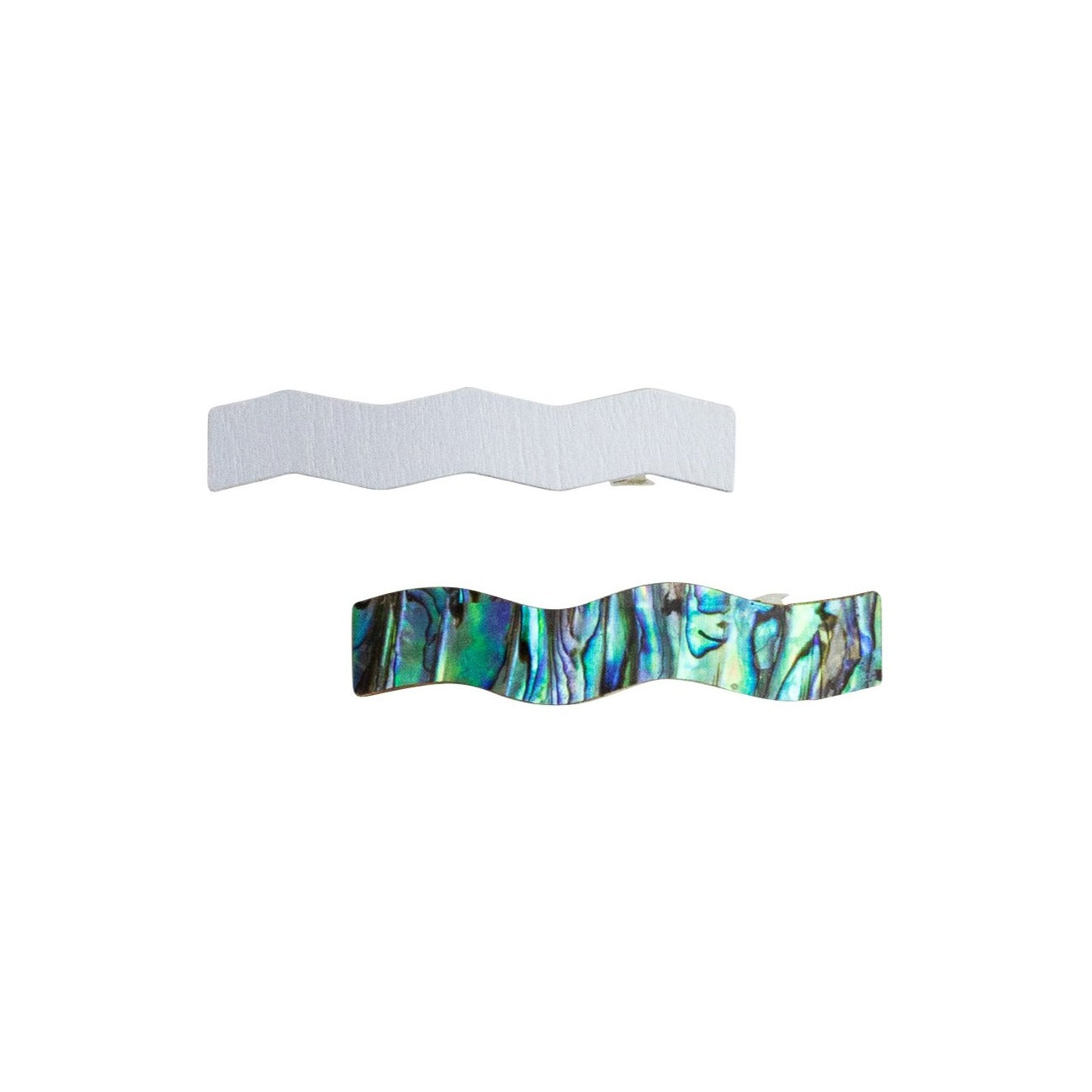 Set of 2 Pale Blue Hair Clips by Wolf & Moon