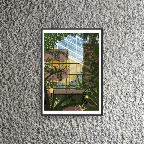 Barbican Conservatory Print by Daniel Clarke