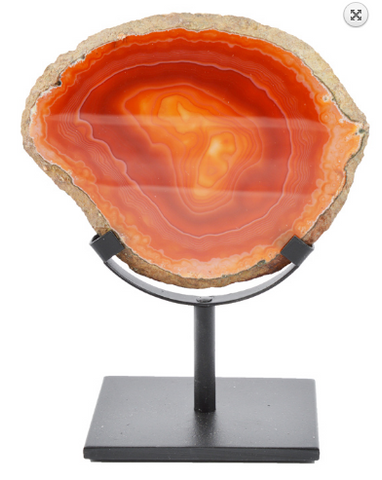 15cm Agate slice on Stand
