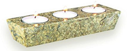 Fossilstone 3 Hole Tealight Candle Holder