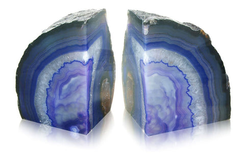 Agate Bookends - Available in a choice of 6 colours - 10cm wide x 12cm high (each half)