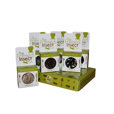 Bush Tucker Edible Bugs | Gift Hamper Box of 6 Varieties