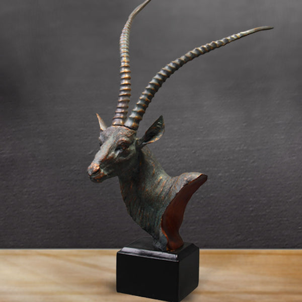 rustic antelope head home furnishing decor creative resin handicrafts 46cm
