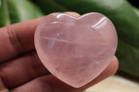 Natural Rose Quartz Crystal Love Heart