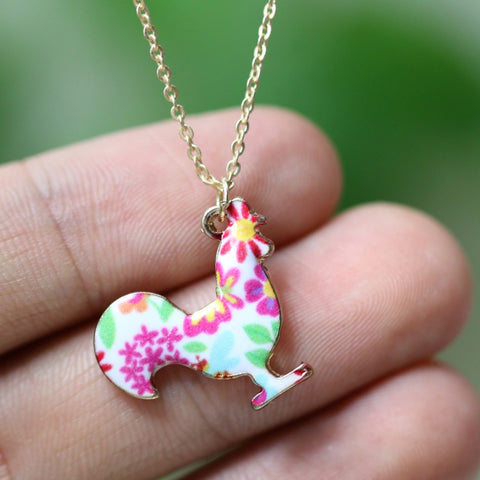 Chicken Necklace Rooster Pendant