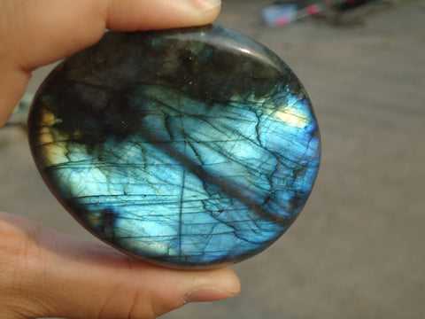 145g Natural Labradorite Crystal Polished From Madagascar