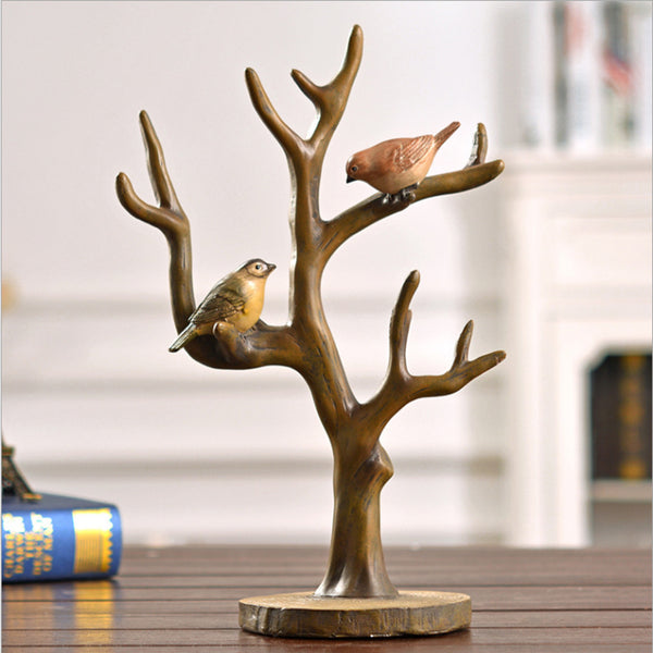 Resin home decoration craft Birds on a branch