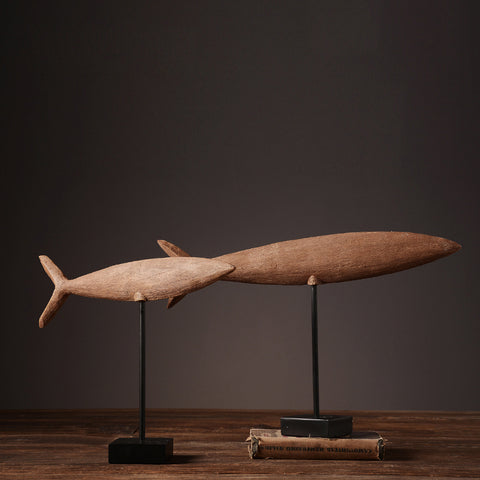 Nordic home furnishing decor retro resin fish model - 2 sizes