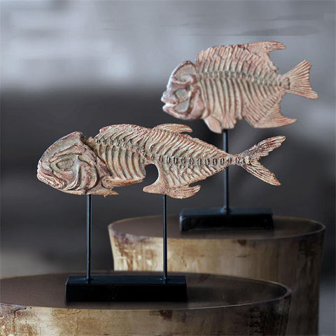 Resin Fish fossils Jurassic home decor Fish skeleton