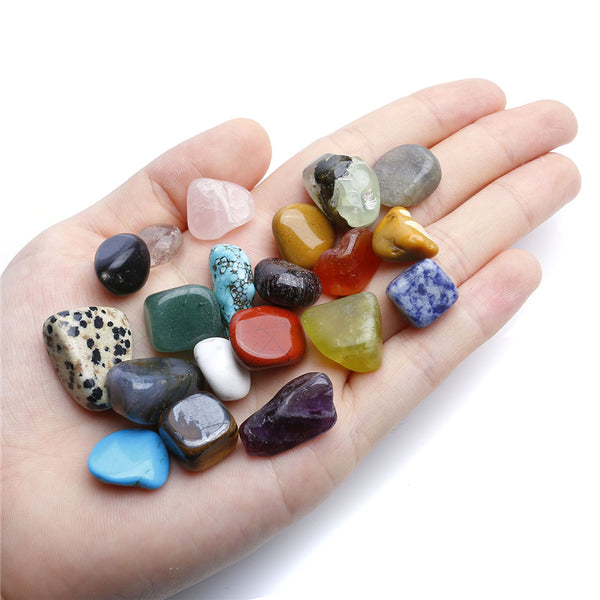 2017 New 20x Mini Natural Quartz Healing Stone And Minerals Display Box Collection Ornament Decoration 0.4-0.9 Inches