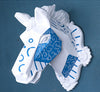 Wall mounted blue and white horse trophy - faux taxidermy