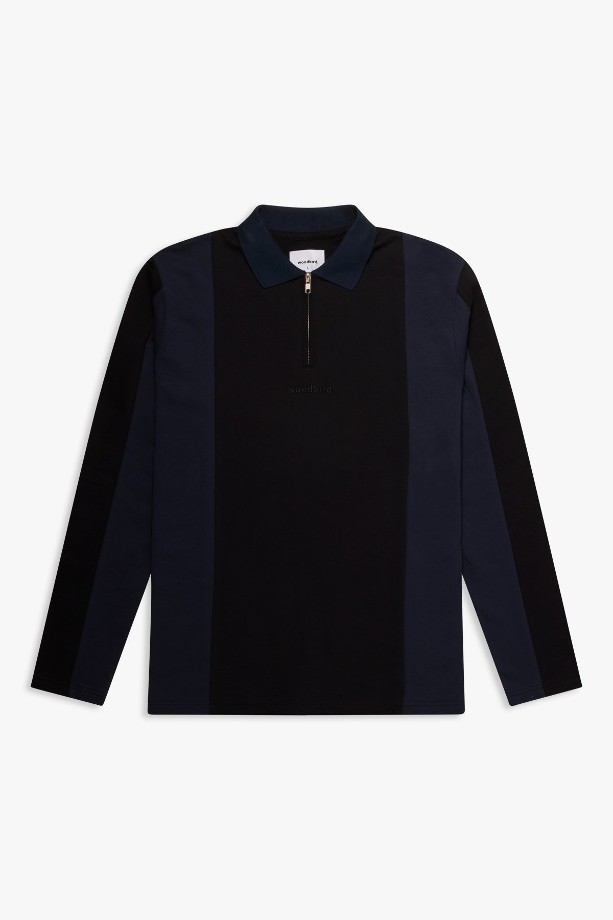 Woodbird Akla Cutzip Sweat Sweats Navy-Black