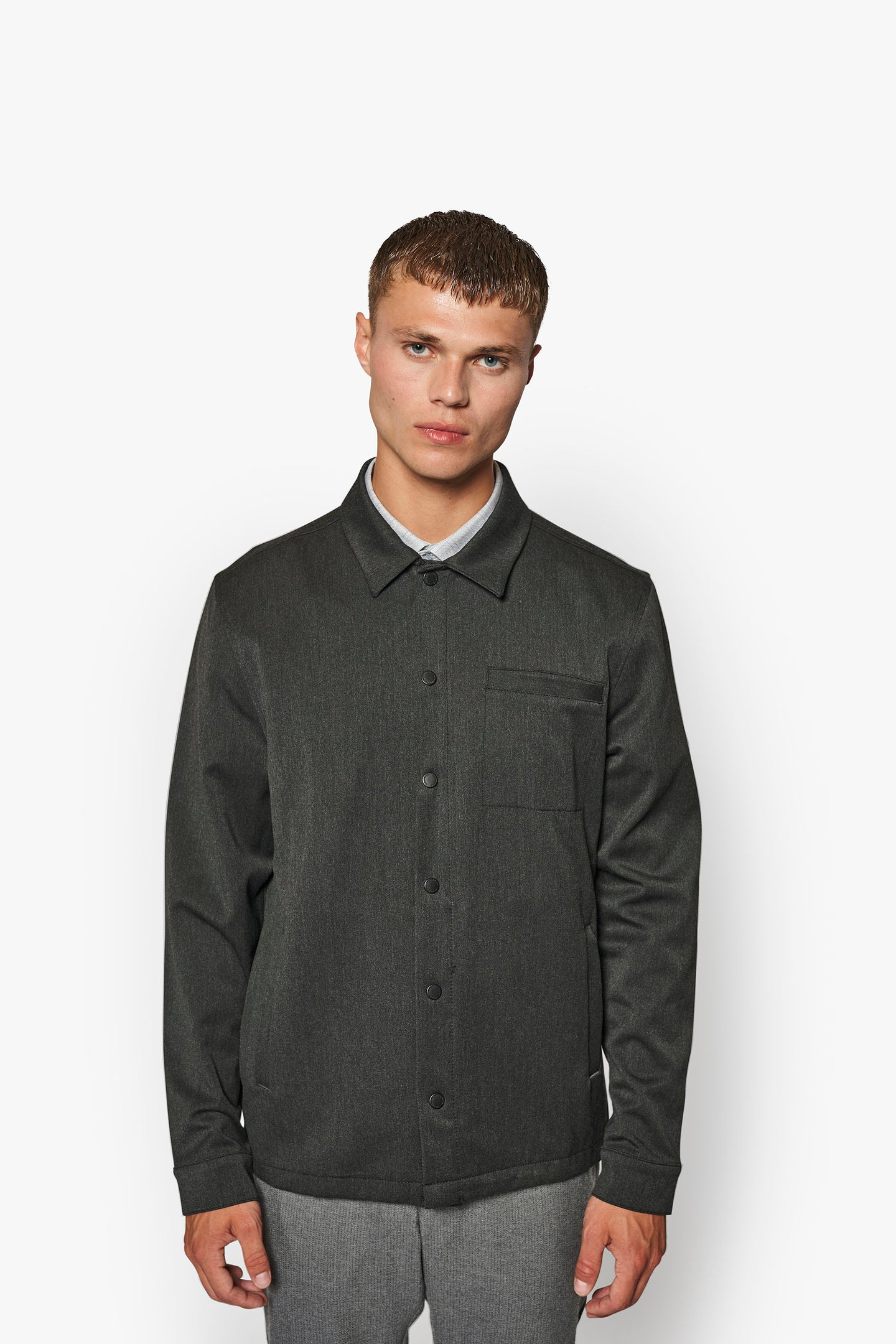 Woodbird Brenti Shirt Shirts Grey