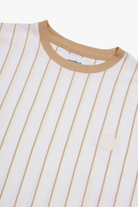 Woodbird Drek Stripe Tee T-Shirts White-Ecru-Kit