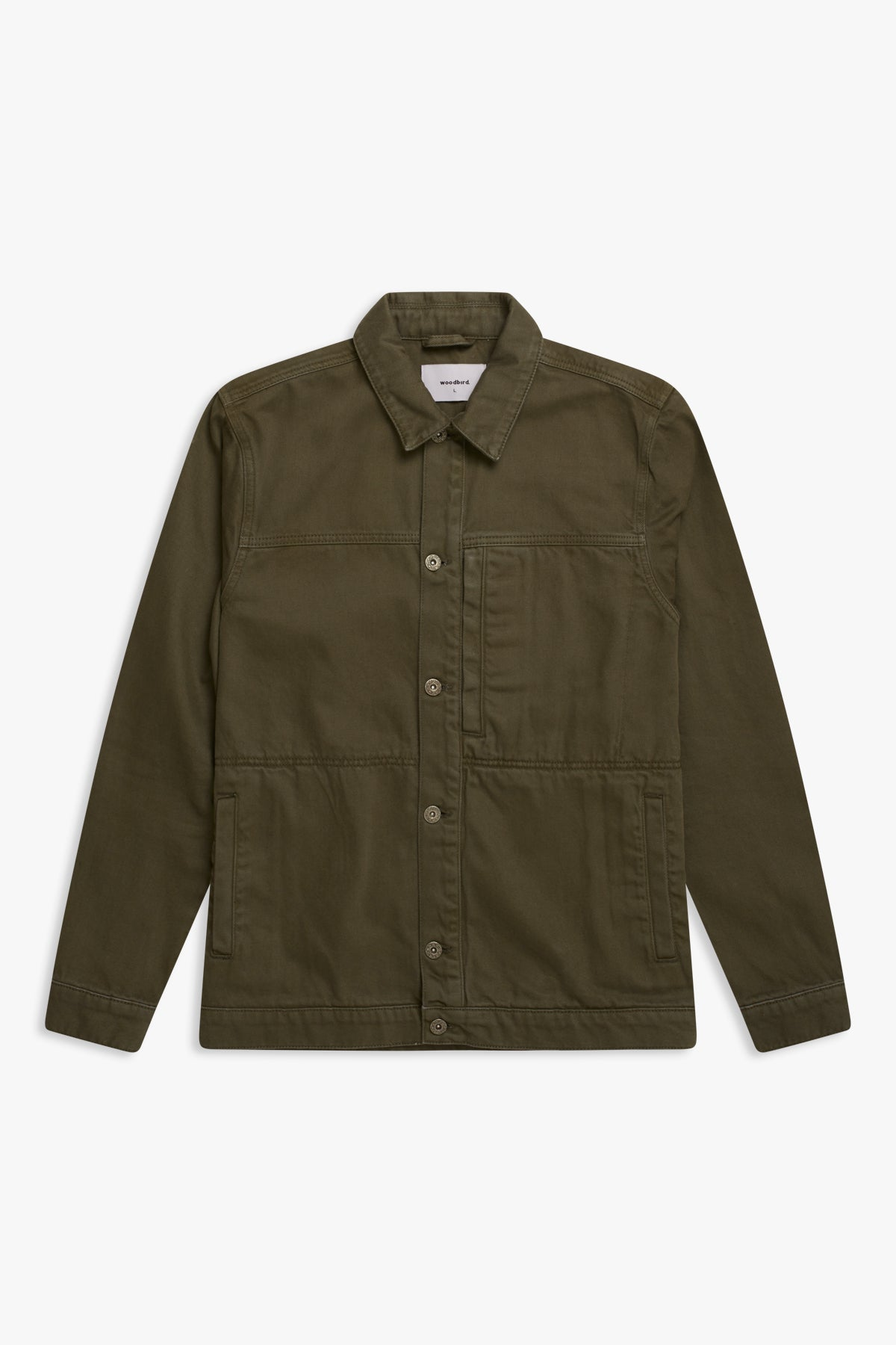 Woodbird Frick Twill Jacket Jackets Army